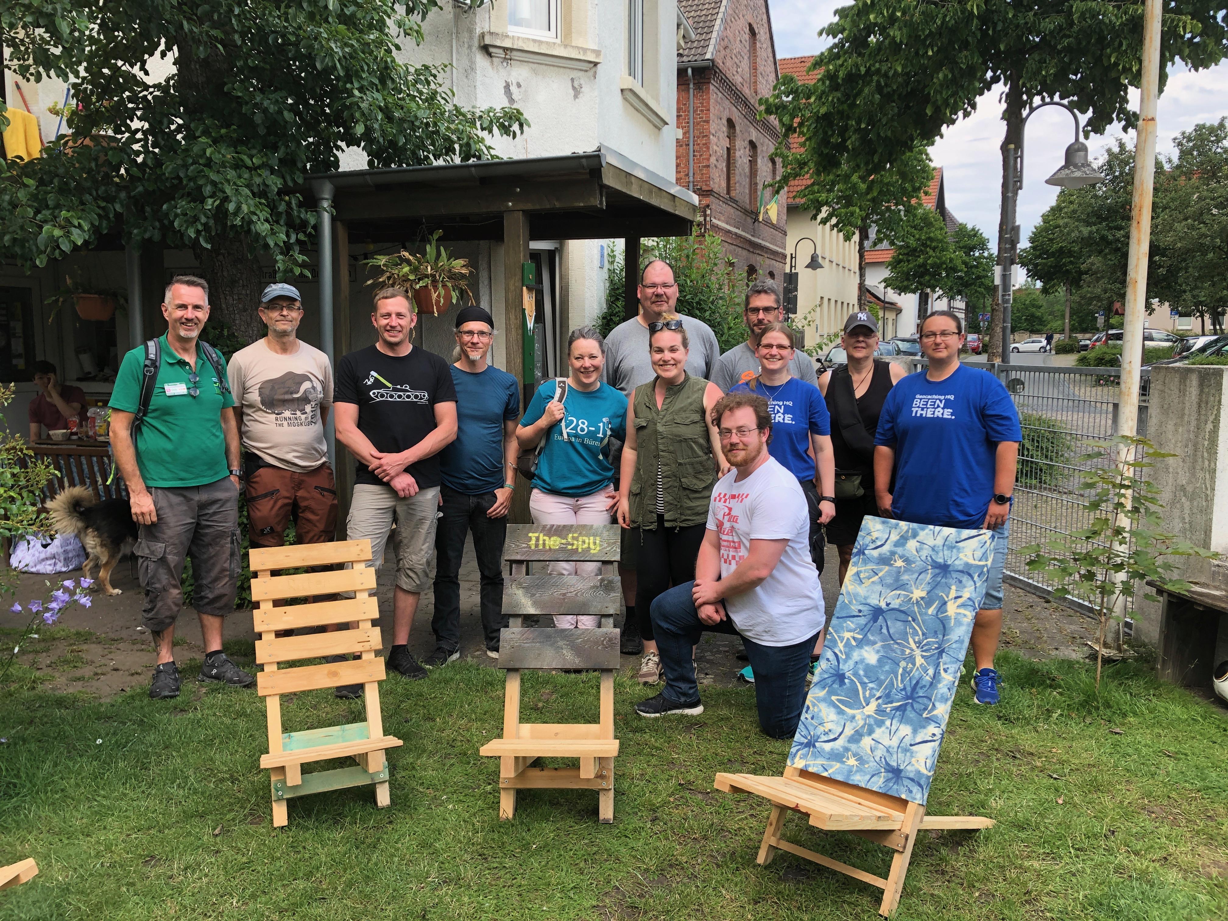 SlightlySarah mit Ownern der Geotour Paderborner Land